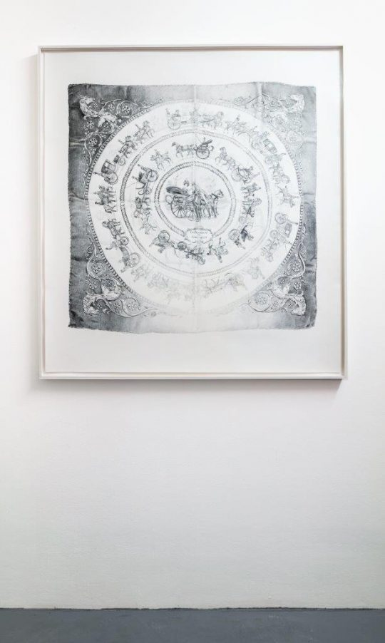 Pencil on paper, framed\r<br>120 x 110 cm \r\n\r\nPhoto: Cordia Schlegelmilch, courtesy Galerie Gilla Loercher
