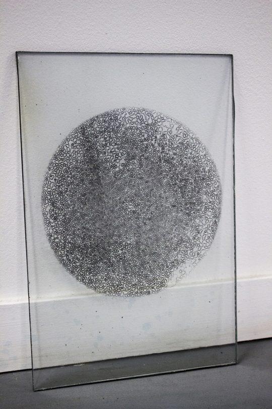 photograms of water, ice, fog, silver bromide on glass plate, \r<br>21 x 29 cm \r\n\r\nPhoto: Capucine Vandebrouck