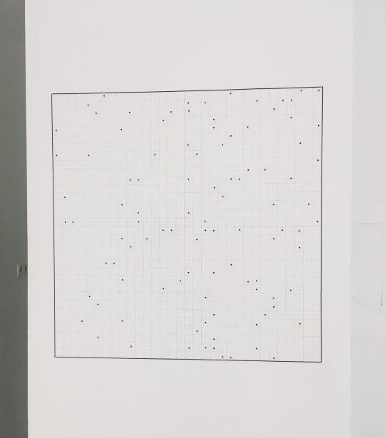 wall drawing <br>96 x 96 cm\n\nPhoto: Gilla Loercher, courtesy the artist