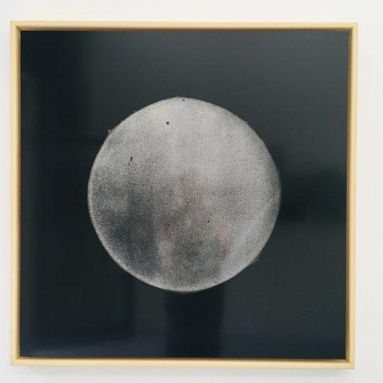 photogram of fog, (edition 2/4) \r<br>90 x 90 cm \r\npasted on dibond, framed \r\n\r\nPhoto: Gilla Loercher / Galerie Gilla Loercher