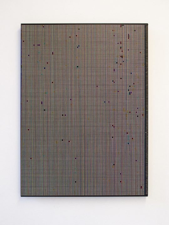 oil on paper, mounted on aluminium composite sheet <br>78 x 57,2 cm