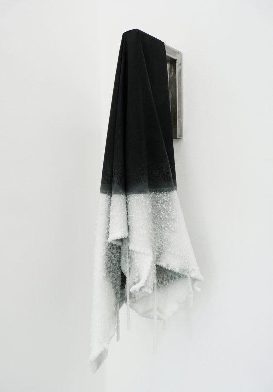 Black tissue, borax, iron <br>80 x 30 x 35 cm \nPhoto: John Cornu