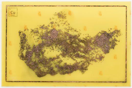 Printed circuit board: copper-clad epoxy \r<br>20 x 30 cm \r\n\r\nPhoto: Cordia Schlegelmilch