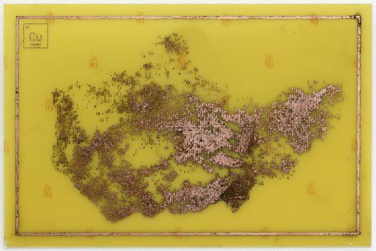 Printed circuit board: copper-clad epoxy <br>20 x 30 cm\n \nPhoto: Cordia Schlegelmilch