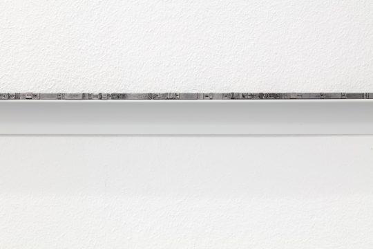 lead type \r<br>3 x 44 x 2,4 cm \r\n\r\nPhoto: Cordia Schlegelmilch, courtesy Galerie Gilla Loercher and the artist