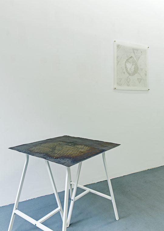 Lead / Blei \r<br>70 x 70 cm \r\nPhoto: Cordia Schlegelmilch, courtesy Galerie Gilla Loercher