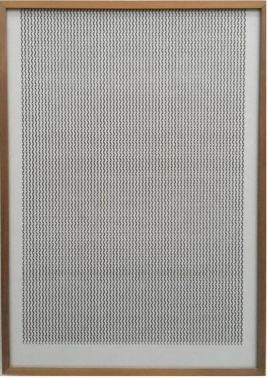 Paper, ink<br>21,4 x 30 cm\nframed\nUnique piece from an endless series\n\nFoto: Gilla Loercher, courtesy Galerie Gilla Loercher