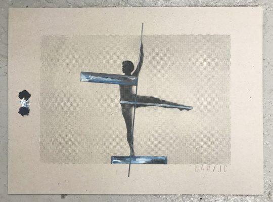 Silkscreen on cardboard with gouache highlights (Bleu / Red / Yellow) \r<br>32 x 42 cm each \r\n\r\nPhoto: John Cornu, courtesy Galerie Gilla Loercher