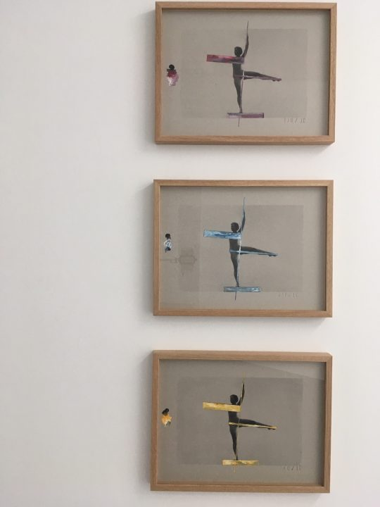 Silkscreen on cardboard with gouache highlights (Bleu / Red / Yellow) \r<br>32 x 42 cm each\r\n \r\nPhoto: Gilla Loercher, courtesy the artist