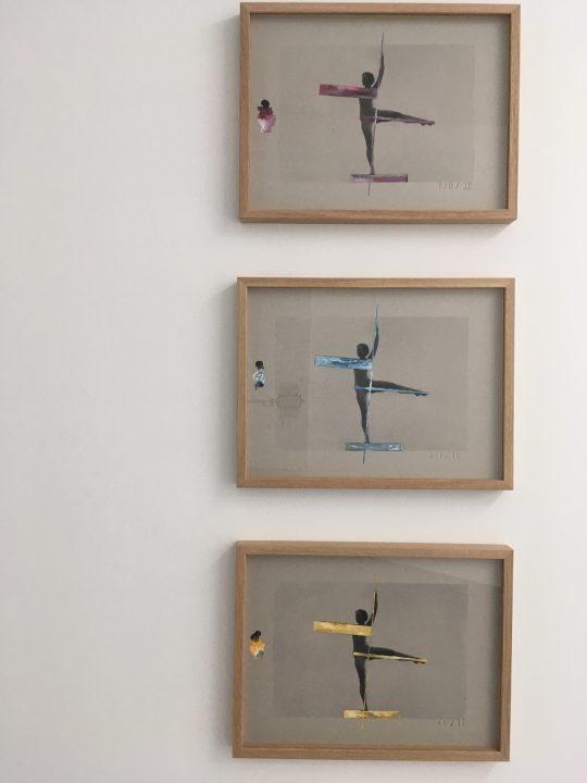 Silkscreen on cardboard with gouache highlights (Bleu / Red / Yellow) \r<br>32 x 42 cm each \r\n\r\nPhoto: Gilla Loercher