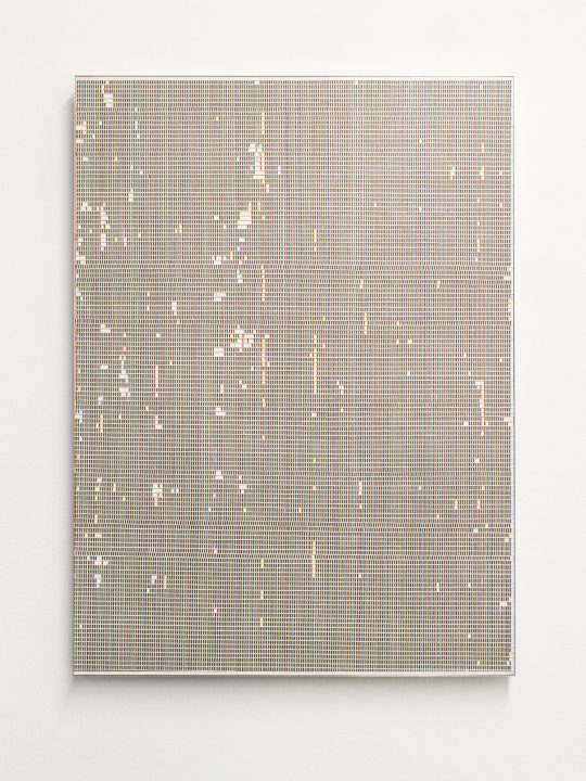 oil on paper, mounted on aluminium composite sheet \r<br>78 x 57,2 cm
