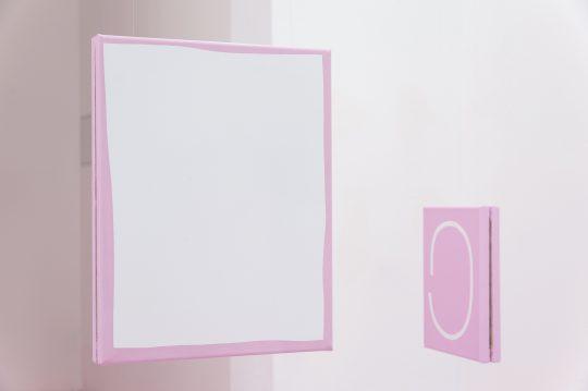 Acrylic on canvas\r<br>2 parts, each 35 x 28 cm\r\n\r\nAcryl auf Leinwand \r\n2-teilig, je 41 x 32 cm \r\n\r\nPhoto: André Kirchner, courtesy Galerie Gilla Loercher and the artist