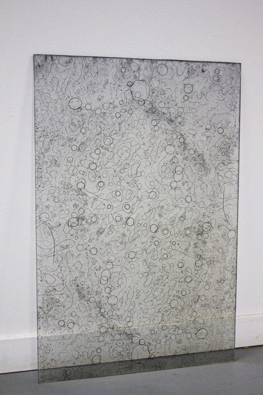 photograms of water, ice, fog, silver bromide on glass plate, \r<br>60 x 60 cm \r\nPhoto: Capucine Vandebrouck
