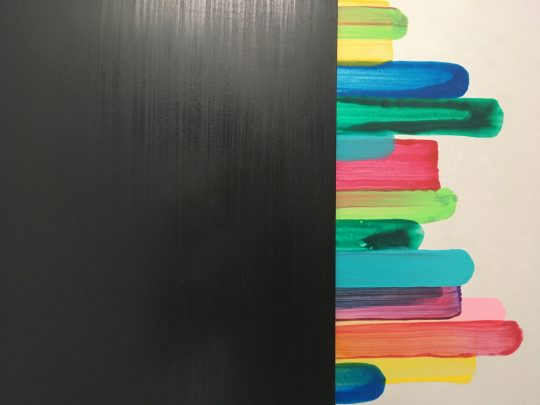 2 parts, each 40 x 50 cm<br>acrylic/pigments on aluminium \n\nPhoto: Gilla Loercher, courtesy the artist