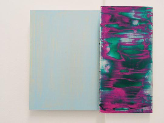 2 parts, 40 x 50 cm\r<br>acrylic/pigments on aluminium\r\n\r\nPhoto: Gilla Loercher, courtesy the artist