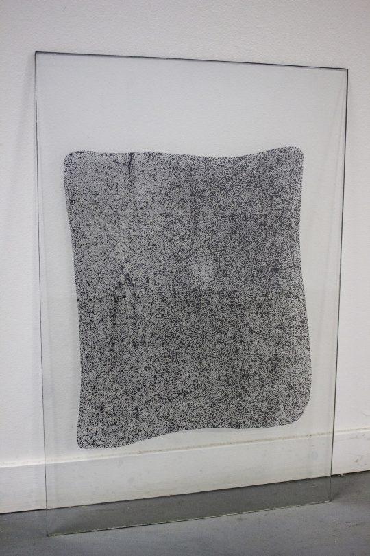 photograms of water, ice, fog, silver bromide on glass plate, \r<br>60 x 60 cm \r\n\r\nPhoto: Capucine Vandebrouck