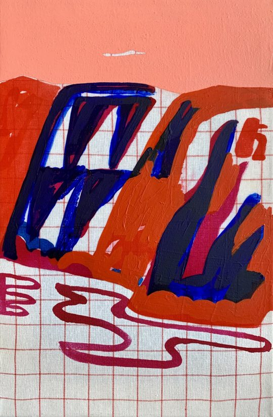 acrylic on fabric \r<br>50 x 33 cm\r\n\r\nPhoto: Gilla Loercher