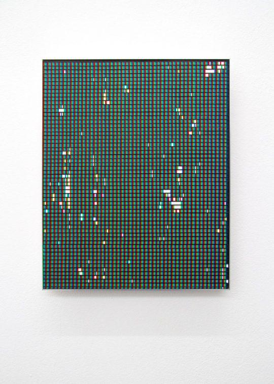 acrylic on paper, mounted on aluminium <br>34,5 x 28 cm
