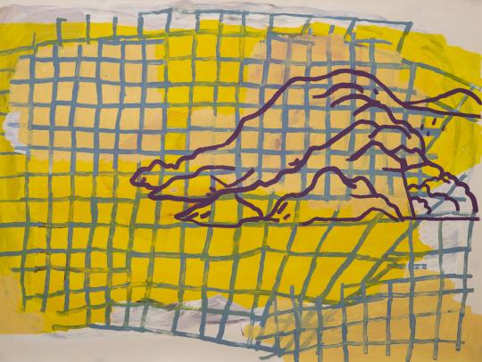 Oilbar and acrylic on oil paper \r<br>97.5 x 73.5 cm\r\n\r\nPhoto: Ivana Kličković