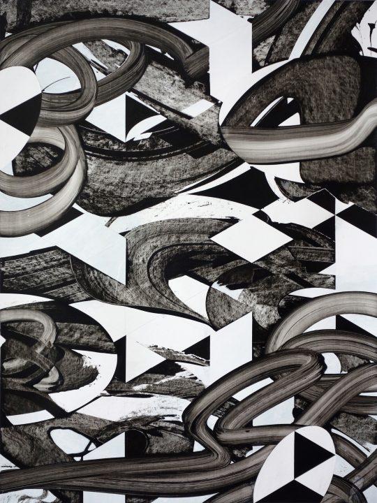 Acrylic on paper, framed \r<br>87 x 65 cm\r\n\r\nPhoto: the artist