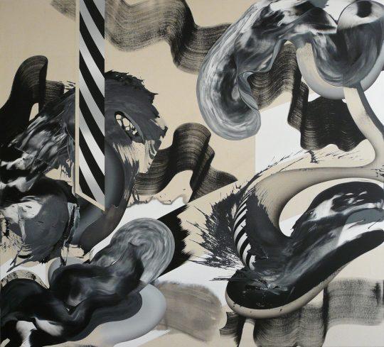Acryl auf Leinwand <br>180 x 200 cm \n\nPhoto: Ab van Hanegem