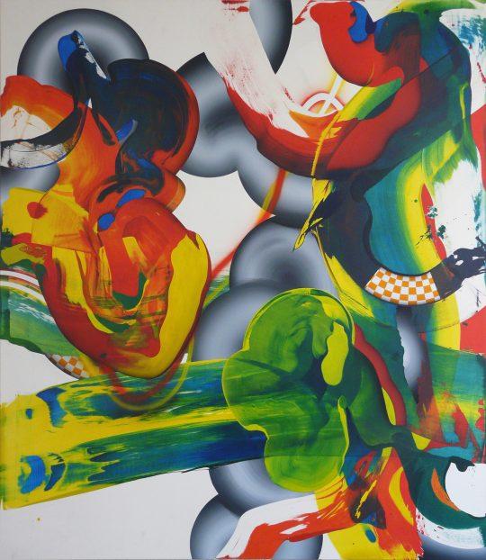 Acryl auf Leinwand <br>230 x 200 cm \nPhoto: Ab van Hanegem