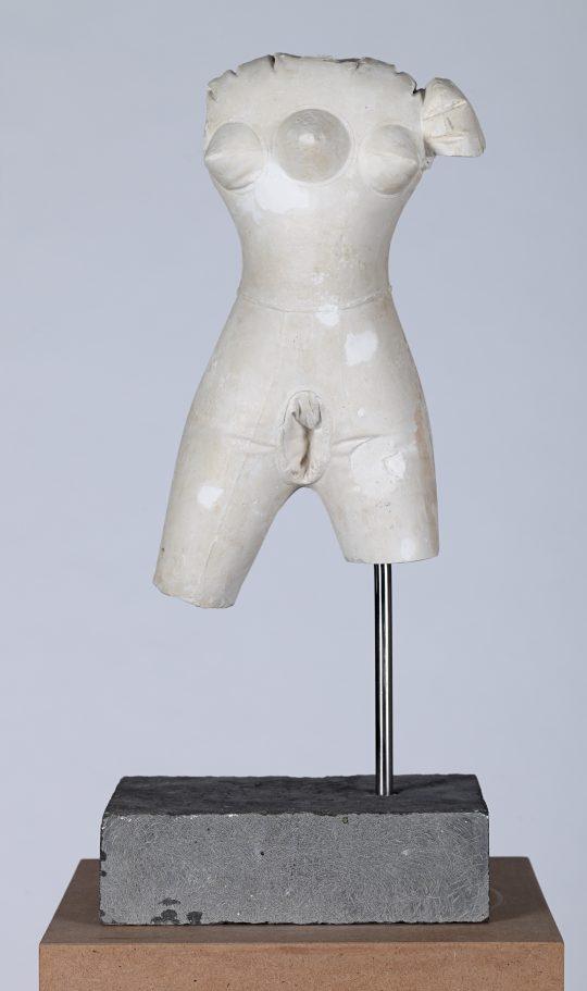 Plaster, stone, steel, MDF, \r<br>165 x 28 x 28 cm \r\n\r\nPhoto: Cordia Schlegelmilch, courtesy Galerie Gilla Loercher