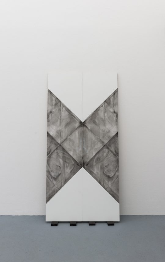 Oil on wood\r<br>2 parts, each 150 x 36 cm\r\n \r\nPhoto: Ivan Liovik Ebel