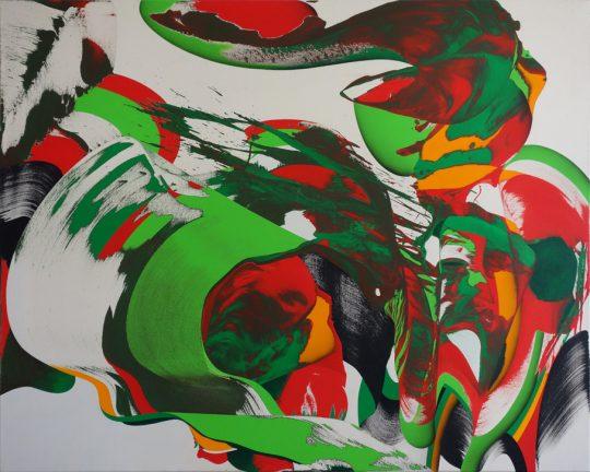 Acrylic on canvas\r<br>120 x 150 cm \r\n\r\nPhoto: Ab van Hanegem
