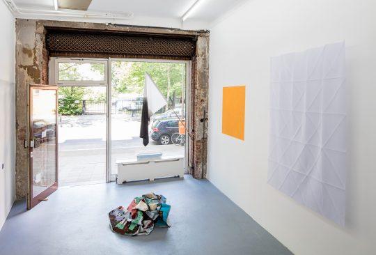 Left: Michel Castaignet, Romain Boulay, Cécile Bart, Ivan Liovik Ebel \r<br>\r\nPhoto: Cordia Schlegelmilch, Courtesy Galerie Gilla Loercher