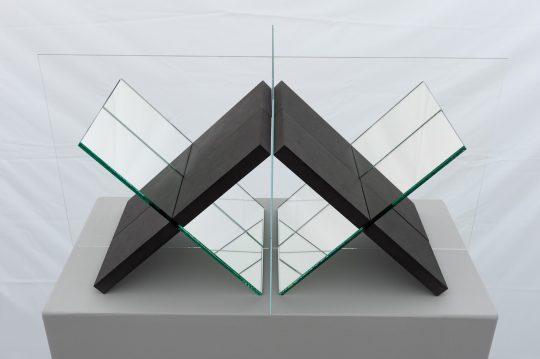 MDF, mirror glass and glass \r<br>L 60 x B 30 x H 30 cm \r\nEdition 1/1 + 1 AE\r\n\r\nPhoto: Dieter Düvelmeyer, courtesy Galerie Gilla Loercher and the artist