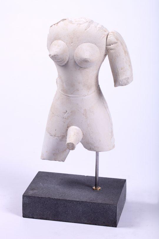 Plaster, stone, steel, MDF, acrylic \r<br>185 x 60 x 30 cm \r\n\r\nPhoto: Cordia Schlegelmilch, courtesy Galerie Gilla Loercher