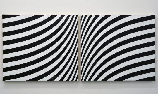 2-tlg., Acryl auf Leinwand <br>45 x 100 cm \nPhoto: Ab van Hanegem