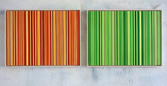 Acryl on paper, 2 parts\r<br>45 x 120 cm \r\n\r\nPhoto: Ab van Hanegem