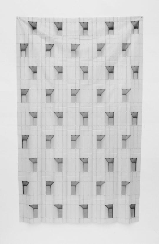 Sublimationsdruck auf Stoff <br>172,3 x 106,2 cm \n\nPhoto: Ivan Liovik Ebel