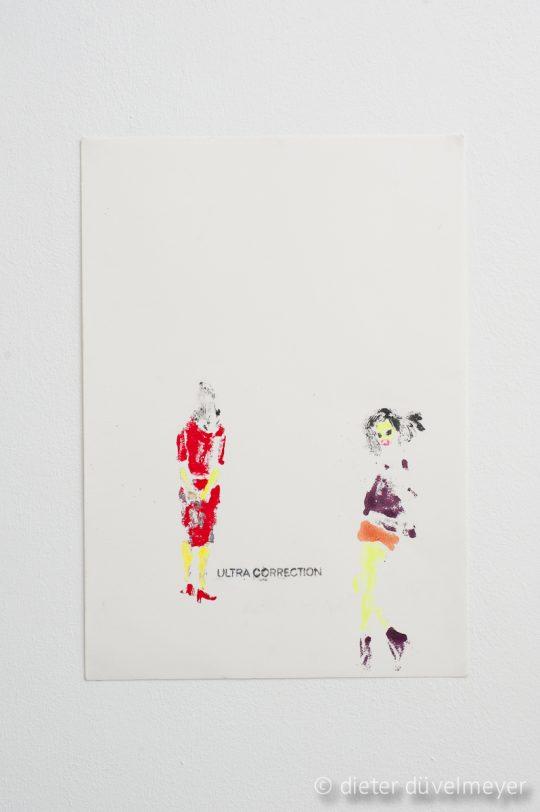 Nail polish, mascara, lipstick on paper\r<br>29,5 x 42 cm\r\n\r\nPhoto: Dieter Düvelmeyer, courtesy Galerie Gilla Loercher and the artist