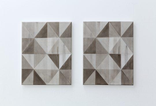 Oil on canvas, 2 parts \r<br>each 38 x 30 cm \r\n\r\nPhoto: Cordia Schlegelmilch