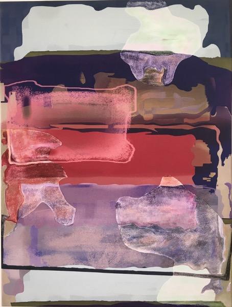 Pastel, oil pastel on sublimation print on fabric\r<br>64 x 48 cm\r\n\r\nPhoto: Gilla Loercher, courtesy Galerie Gilla Loercher