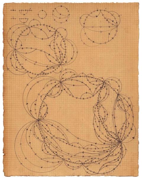 graphite and tea on paper <br>25 x 19.2 cm \n(Courtesy Kit Schulte Contemporary Art) \nPhoto: Owen Schuh
