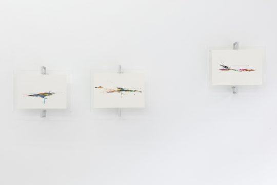 Muroe, Untitled 2021\r<br>Copic marker, acrylic, Paint on papier, framed,\r\n32,5 x 38 cm each.\r\n\r\nPhoto: CHROMA, courtesy Galerie Gilla Loercher and the artist