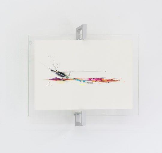 Muroe, Untitled 2021\r<br>Copic marker, acrylic, paint on paper, framed. Unique\r\n32,5 x 38 cm\r\n\r\nPhoto: CHROMA, courtesy Galerie Gilla Loercher and the artist\r\n