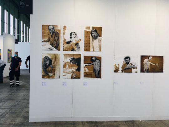 Installation view Ute Schendel Vintage Portraits at booth Galerie Gilla Loercher, POSITIONS Berlin 2021\r<br>Foto: Gilla Loercher
