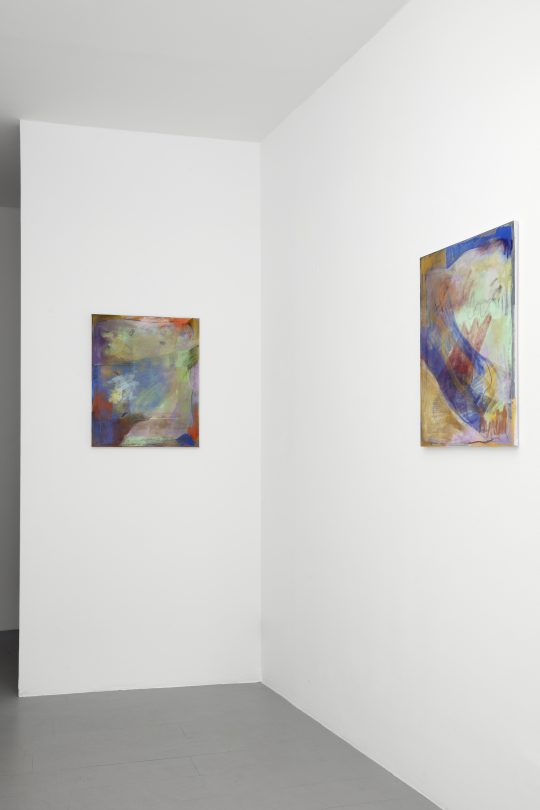 Paintings by Claudia Zweifel at Galerie Gilla Loercher, 2021<br>\nPhoto: CHROMA, courtesy Galerie Gilla Loercher and the artist